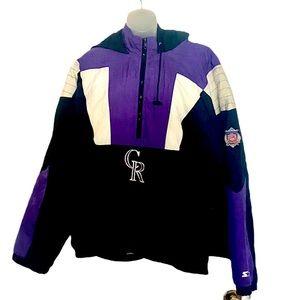 *Host Pick* Colorado Rockies Starter puffer jacket